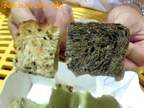 sbread - sesame bread and black charcoal bread