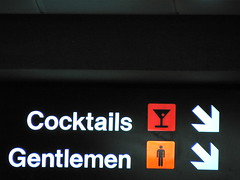 Cocktails & Gentlemen (iandavid) Tags: arizona phoenix sign airport icons icon arrows arrow cocktails phx gentlemen phoenixskyharborairport