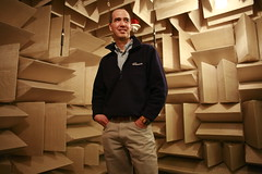 Anechoic chamber at Microsoft Research, Phil Chou