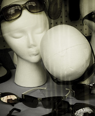 headmistress (nardell) Tags: philadelphia mannequin sunglasses store kiss mannequins head pa heads windowdisplay valentinesday headrest headmistress almostfunny actuallyjustwantedtocontinue myvalentinemannequintradition