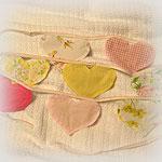 SECRET SANTA<p>Pink Hearts Banner/Bunting<p>of Upcycled Fabrics