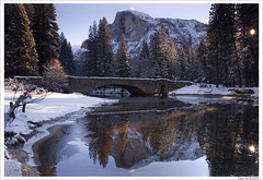 A Cold Morning (Thi) Tags: bridge winter valley yosemite yosemitevalley stonemanbridge yosemitewinter