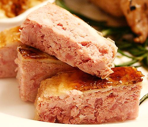 煎兔肉佐兔肉 Paté和Camembert 起司-080311