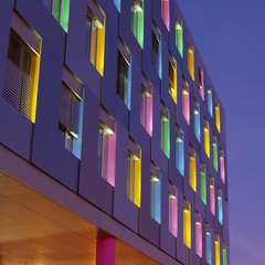 Color Palette (rab36) Tags: city colors architecture night germany bank architektur karlsruhe nachtaufnahme lbbw langebelichtung landesbankbadenwrttemberg platinumheartaward