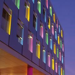 Color Palette (rab36) Tags: city colors architecture night germany bank architektur karlsruhe nachtaufnahme lbbw langebelichtung landesbankbadenwrttemberg platinumheartaward