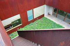 Corten Stairs (vbratone) Tags: windows orange portugal colors architecture stairs rust doors steel president ivy courtyard belem catchy corten documentationcenter catchycolorsrust carrilhodegraca