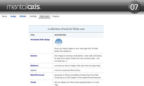 Flickr tools