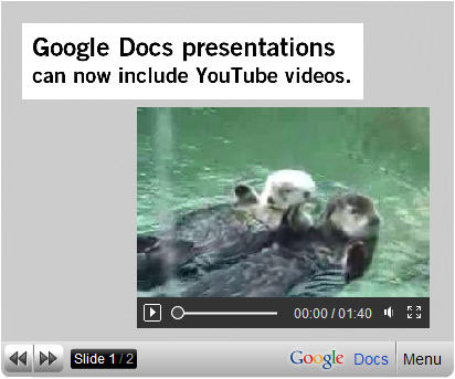 YouTube in Google Presentation