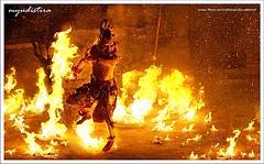 The Rain of Fire (Made Yudistira - Bali Based Freelance Photographer) Tags: bali work canon fire dance photographer culture made uluwatu sensational 2008 freelance adat bud