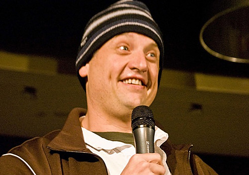 Comic Eddie Gosling performing at Ithaca College