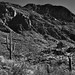 The Rugged and Jagged Landscape of Bushmaster Peak (Black & White)
