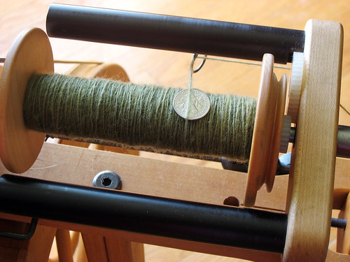 Cormo Cross on the bobbin