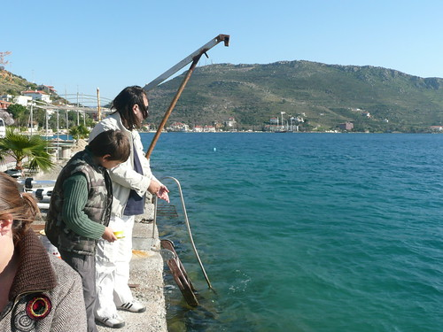 Ahmet and Tibet Fishing in Bozburun