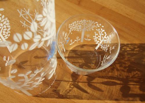 SK-Bluebird pitcher & glass