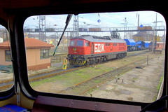 "BDZ electric locomotive 46 221, meets a ""Lyudmila"",  Plovdiv, Bulgaria, Locomotive Depot, March, 2007 (Ivan S. Abrams) Tags: arizona canon20d ivan trains bulgaria getty balkans abrams railways lada trainspotting sovietunion gettyimages railroads ussr ludmilla smrgsbord tucsonarizona lyudmila railfans 12608 trainwatching bdz madeinussr diesellocomotives railwayenthusiasts europeanrailways onlythebestare internationalrailways dieselelectriclocomotives sovietbuiltlocomotives ivansabrams trainplanepro kostadinmihailov madeinsovietunion pimacountyarizona safyan arizonabar kostamihailov plovdivlocomotivedepot arizonaphotographers ivanabrams cochisecountyarizona bulgarianlocomotives worldrailways sovietbuiltrailwayequipment easteneuropeanrailways railwaysofeurope tucson3985 gettyimagesandtheflickrcollection copyrightivansabramsallrightsreservedunauthorizeduseofthisimageisprohibited tucson3985gmailcom ivansafyanabrams arizonalawyers statebarofarizona californialawyers copyrightivansafyanabrams2009allrightsreservedunauthorizeduseprohibitedbylawpropertyofivansafyanabrams unauthorizeduseconstitutestheft thisphotographwasmadebyivansafyanabramswhoretainsallrightstheretoc2009ivansafyanabrams abramsandmcdanielinternationallawandeconomicdiplomacy ivansabramsarizonaattorney ivansabramsbauniversityofpittsburghjduniversityofpittsburghllmuniversityofarizonainternationallawyer"