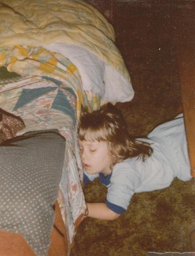 Sleeping on the floor, 1983.