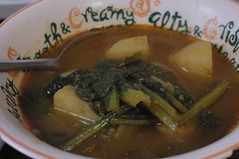 ジャガイモと小松菜のカレー。