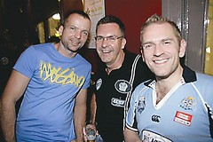 Heiko, James and me at the Flinders Hotel
