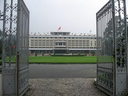 Entrada al Palacio de la Reunificación