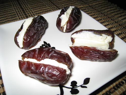 Medjool Dates Stuffed with Cream Cheese