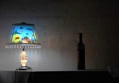 lamp & bottle (aquarium & red wine) (Dreamer7112) Tags: light lamp wall schweiz switzerland bottle nikon europe suisse suiza zurich explore zrich svizzera zuerich d300 zurigo dreamer7112 betterthangood nikond300