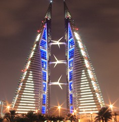 Bahrain World Trade Center (Sami T) Tags: topf25 night canon eos 350d bahrain middleeast 100v10f arabia rebelxt manama 1on1 thebigone supershot 25faves mywinners ci33 aplusphoto diamondclassphotographer flickrdiamond superhearts photofaceoffwinner betterthangood theperfectphotographer funfanphotos