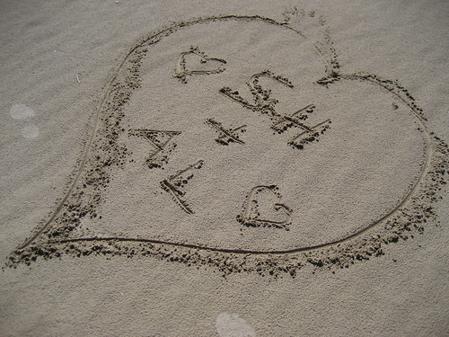 Writting in the sand