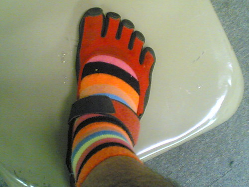 Toe socks + toe shoes