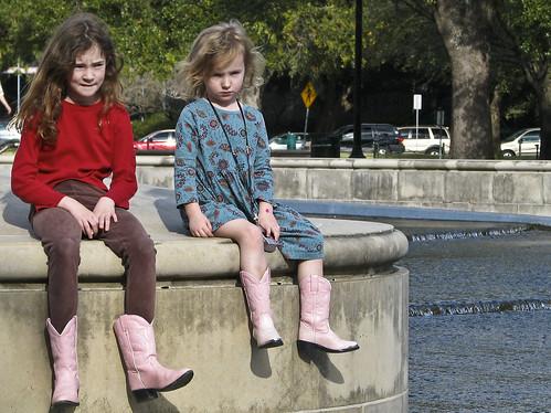 pink windows girls light table cowboy texas boots matching hermannpark platinumphoto betterthangood clevercreativecaptures mightbewearingtheirchristmaspresents idonotknowthesekids theftaposing