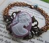 Victioria Blue (oldbutnewagain) Tags: vintage jewelry bracelet copper cameo brass oldbutnew