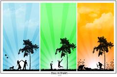 iN The Same PLaCe ~! (Essa Al-Sheikh - @Bo3awas) Tags: sky art love sunshine photoshop design war play adobe illustrator vector coluds alsheikh eissa