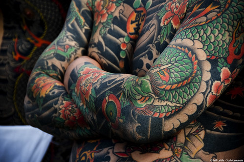 "Irezumi is very beautiful, in a very ""I'll-kick-your-ass-if-you-get-on-my-bad-side ""kind of way - Enoshima"