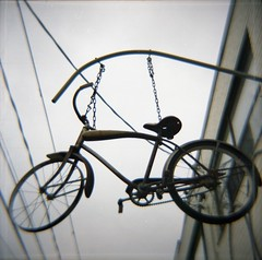 The hanging bike
