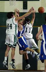 Washingtonville, NY HS Basketball. 1/2008.