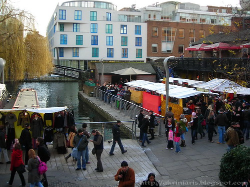 Outside Camden Lock Market