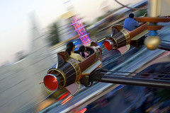 Rocket Man (I Think It's Going To Be a Long, Long Time) (peasap) Tags: california park family vacation blur speed canon high movement ride zoom disneyland space spin flight jet picture blurred disney astro special future theme rocket spaceship february orangecounty streaks effect funfair orbit soe height attraction 30d astroorbitor anawesomeshot