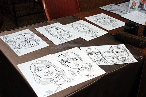 Caricature live sketching Misumi SouthEast Asia D&D 8