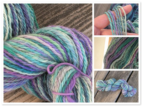 merino wool, blue/green/purple (by aswim in knits)