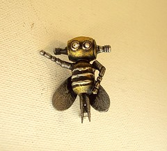 Buzzbee the Robot Bee Wood Pendant Ornament Dangle 2 (Builders Studio) Tags: wood fiction people sculpture man art classic statue metal trek toy person star robot punk comic technology geek mechanical tech metallic space painted machine artificial science retro steam nasa replica ia figure scifi pulp wars figurine android prop mecha droid geekery bot mech robo automaton steampunk robotic cyclon