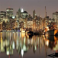 high tide (crop) (frank maiello) Tags: nyc longexposure newyork painterly reflection building water skyline architecture marina river liberty lights harbor boat nikon jerseycity tag tide 85mm hudson nikkor hightide sodiumvapor artificiallight d300 maiello frankmaiello