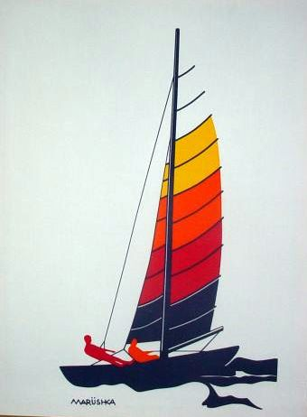 Marushka - rainbow sailboat
