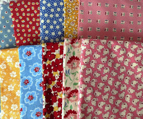 Vintage reproduction 1/2 yard cuts