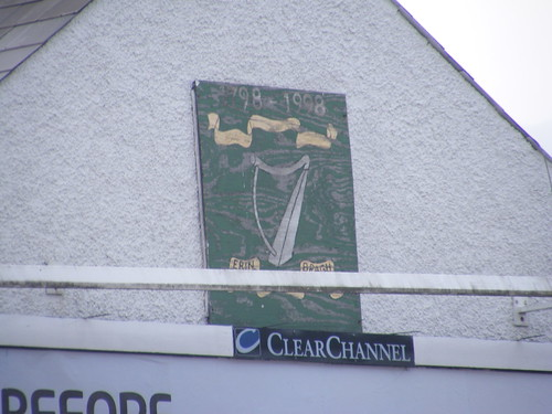 Erin Go Bragh - An old Painted Sign commemorating the 200 Anniversary of the 1798 Rising on a gable wall in Dungiven Co. Derry