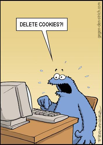 The Cookie Monster deletes his cookies, too