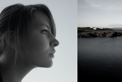 Don't worry, cove, we'll see each other again in three weeks. (Eln Elsabet) Tags: travel sea portrait bw canada home self iceland diptych cove explore goodbye missyoualready goodbyedarling