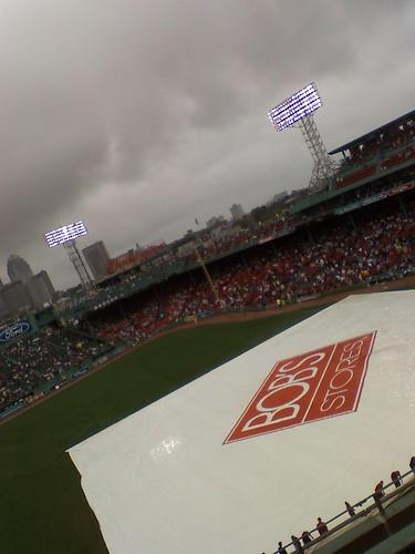 Fenway in a rain delay