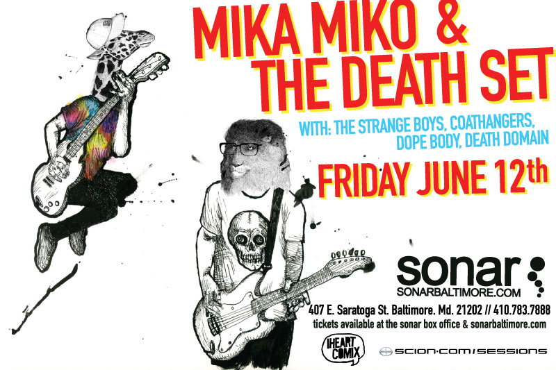 Mika Miko & Death Set June 12th Sonar