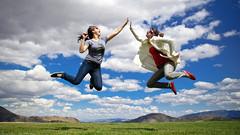 JUMP high five! (almost) (laurenlemon) Tags: girls friends summer portrait sky clouds landscape fun interestingness jump jumping colorful action widescreen nevada highfive virginiacity jumpshot jumpology explored almostsooc canoneos5dmarkii laurenrandolph dianakathleen laurenlemon brittanysterling juneisforjumping