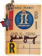 moon john personal young pins collection badge permit area artifact gemini memento moonwalker johnyoung johnwyoung