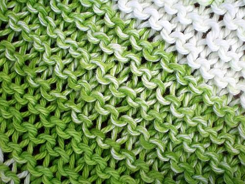 Striped Washcloth Stitch Detail